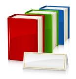 böcker inställt tecken Arkivfoto