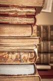 böcker isolerad rad Royaltyfria Bilder