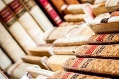 böcker isolerad rad Royaltyfri Bild