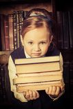 böcker isolerad seriebunt Arkivbild