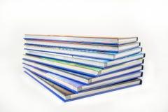 böcker isolerad seriebunt Royaltyfria Bilder
