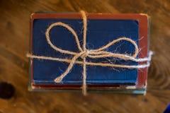 böcker isolerad seriebunt Royaltyfri Fotografi