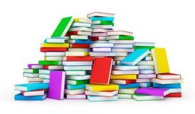 böcker isolerad seriebunt stock illustrationer