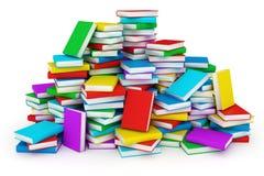 böcker isolerad seriebunt royaltyfri illustrationer