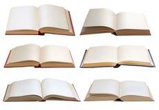 böcker isolerad set Royaltyfria Foton