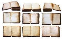 böcker isolerad set tappning Fotografering för Bildbyråer