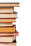 böcker isolerad stapel Arkivbild
