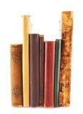 böcker isolerade den gammala bunten Royaltyfri Fotografi