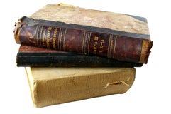 böcker isolerade gammalt Royaltyfri Fotografi