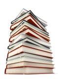 böcker isolerade white Royaltyfria Bilder