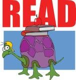 böcker läste sköldpaddan Royaltyfria Foton