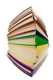 böcker mycket Arkivfoto