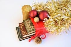 Böcker och jul Royaltyfria Foton