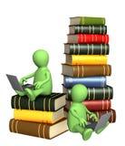 böcker online Arkivbild