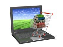 böcker online stock illustrationer