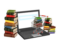 böcker online vektor illustrationer