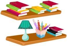 Böcker på hylla vektor illustrationer