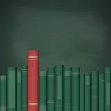 Böcker på hyllan stock illustrationer