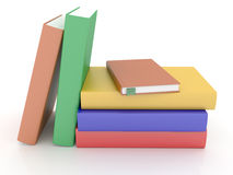 Böcker på vit Arkivfoton