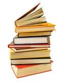 böcker pile läst till Arkivfoto