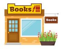 Böcker shoppar illustrationen Stock Illustrationer