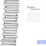Böcker skissar bakgrund Royaltyfria Foton