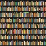 Böcker som i rad står på en mörk bakgrund stock illustrationer