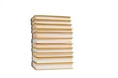 Böcker som isoleras på viten Royaltyfri Foto