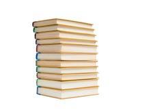 Böcker som isoleras på viten Fotografering för Bildbyråer