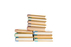 Böcker som isoleras på viten Arkivbilder