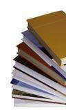 böcker som staplas upp Royaltyfria Bilder