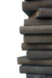 böcker stänger gammalt staplar upp Arkivfoto