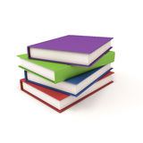 böcker stänger sig staplar upp royaltyfri illustrationer