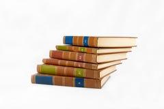 böcker staplade arkivfoto