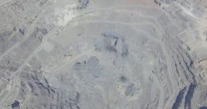 Böe in der Tagebaugrube stock video