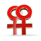 Bög; lesbisk kvinna; förälskelse; kvinnor; kvinnlig; homosexuell person; datera; symbol; diamant; par; könsbestämma; sexsymbol; sm Royaltyfri Bild