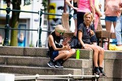 Bög Pride Canal Parade Amsterdam 2014 Arkivbilder