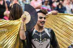 Bög Pride Canal Parade Amsterdam 2014 Royaltyfria Foton