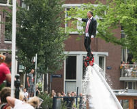 Bög Pride Canal Parade Amsterdam 2014 Arkivbild