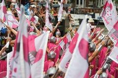 Bög Pride Canal Parade Amsterdam 2014 Royaltyfri Foto