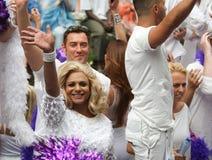 Bög Pride Canal Parade Amsterdam 2014 Royaltyfria Bilder