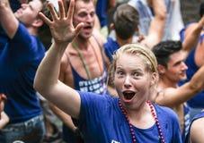 Bög Pride Canal Parade Amsterdam 2014 Arkivfoton