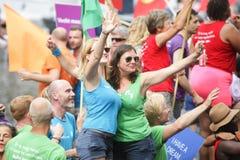 Bög Pride Canal Parade Amsterdam 2014 Royaltyfri Fotografi