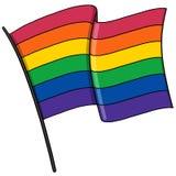 Bög Pride Flag Illustration Royaltyfria Bilder