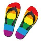 Bög Pride Flip Flops vektor illustrationer