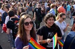 Bög Pride Parade i Sofia, Bulgari juni 2017 Royaltyfria Foton