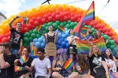 Bög Pride Parade i Sofia, Bulgari juni 2017 Royaltyfri Foto
