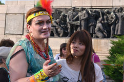 Bög Pride Parade i Sofia, Bulgari juni 2017 Arkivbilder