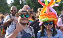 Bög Pride Parade i Sofia, Bulgari juni 2017 Royaltyfri Bild