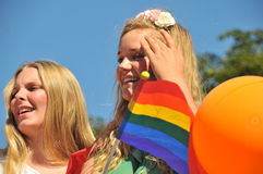Bög Pride Parade 2013 i Stockholm Royaltyfria Bilder
